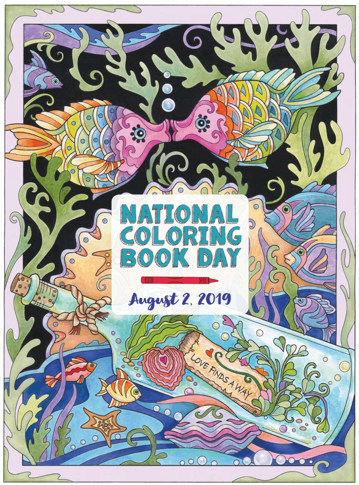 National Coloring Book Day Gibsonville Public Library